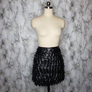 Studio M Black Faux Leather Skirt Size 8 Black